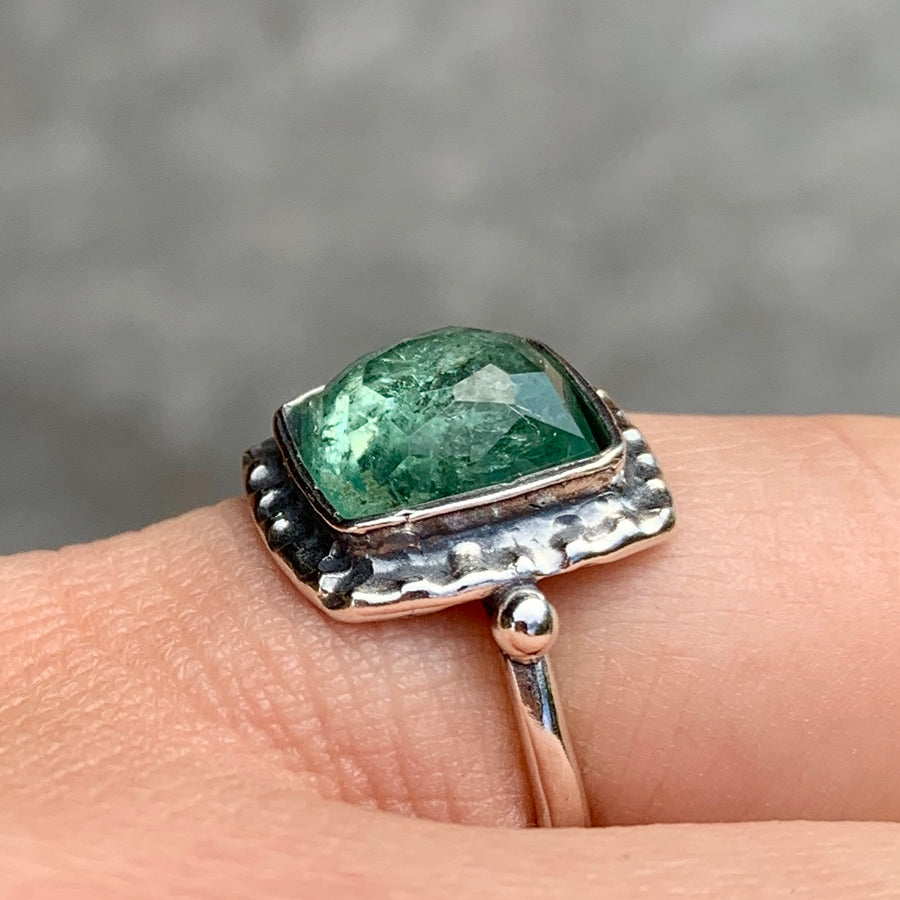 PRE-ORDER FOR KATIE- Green Tourmaline Ring- Sz 5