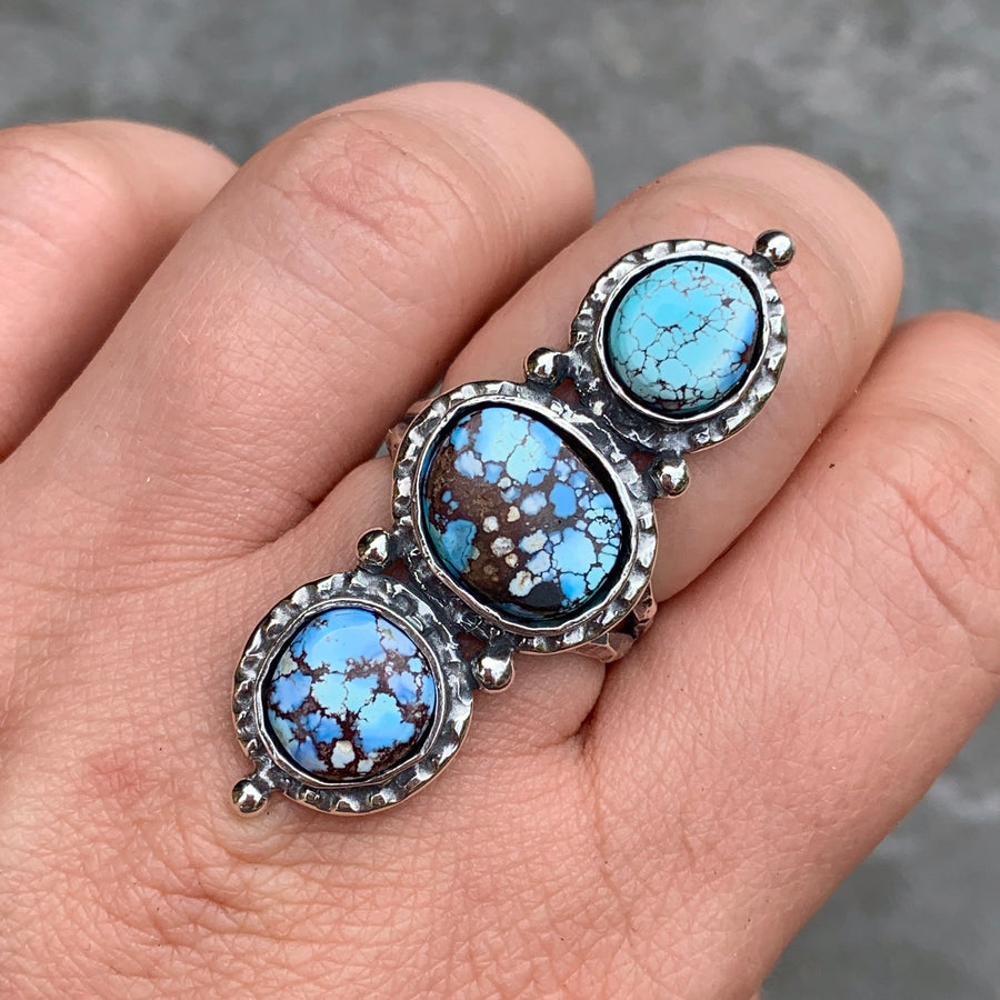 PRE-ORDER FOR JEDDIDIAH- Lavender Turquoise Ring- Sz 8