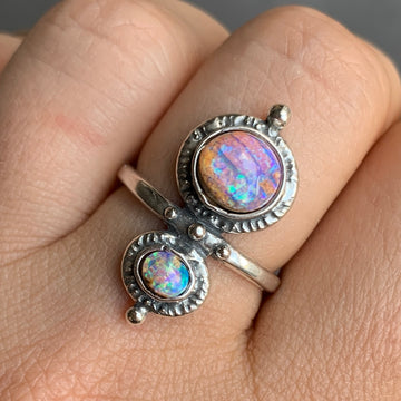 PRE-ORDER FOR KELS- Double Pipe Opal Ring Sz 8
