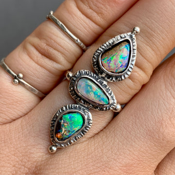 PRE-ORDER FOR ERICA- Pipe Opal Ring Sz 6.5