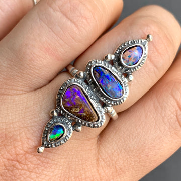 PRE-ORDER FOR DEB- Purple Pipe Opal Ring Sz 8