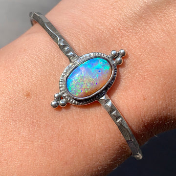 PRE-ORDER FOR TRIXIE- Oval Pipe Opal Cuff