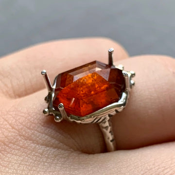 PRE-ORDER FOR KATE - Orange Kyanite Ring- Sz 8
