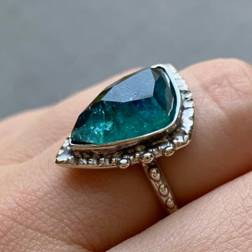 PRE-ORDER FOR ALEXANDRA- Indicolite Tourmaline Ring- Sz 8