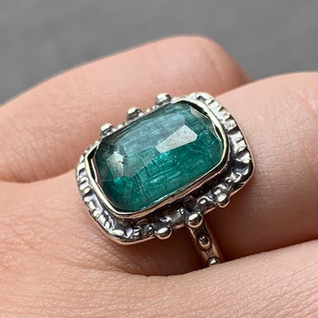 PRE-ORDER FOR SAMARA- Indicolite Tourmaline Ring- Sz 6