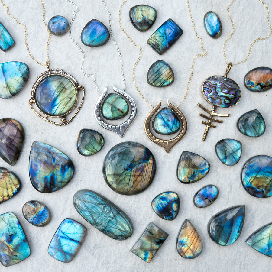 SERA Labradorite Teardrop Necklace