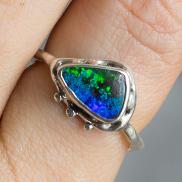 PRE-ORDER FOR Emily- Triangle Opal Ring Sz 9