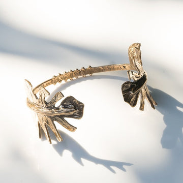 Monstera Leaf Cuff Bracelet