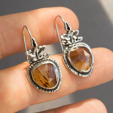 PRE-ORDER FOR YING EN- Montana Agate Silver Earrings