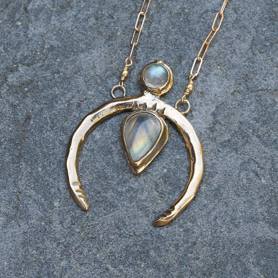 NEW MOON Moonstone Necklace