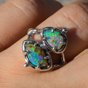 PRE-ORDER FOR CK- Double Opal Ring Sz 7.5