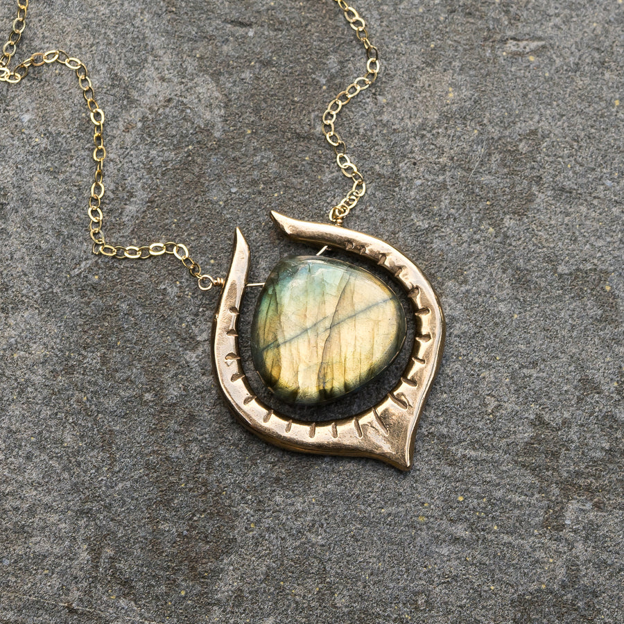 SERA Gold Labradorite Necklace