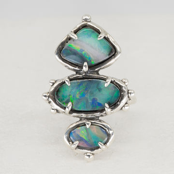 PRE-ORDER FOR CK- Triple Opal Ring Sz 7.5