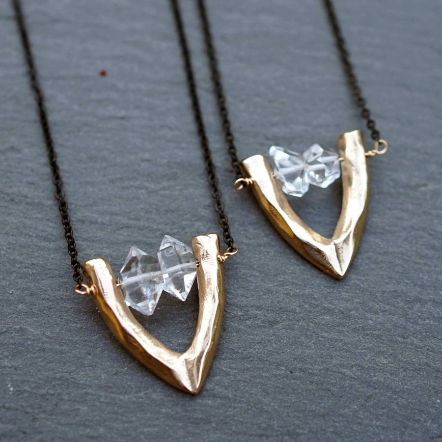 CARA Herkimer Diamond Bronze Necklace