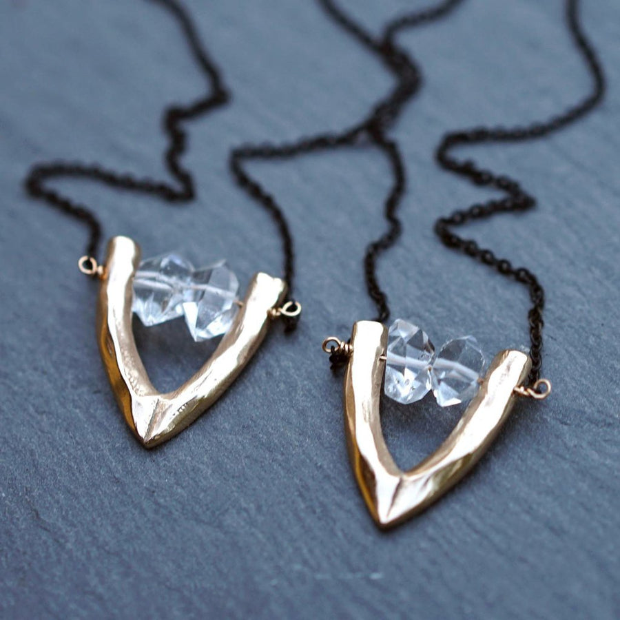 Herkimer Diamond Necklace Pair