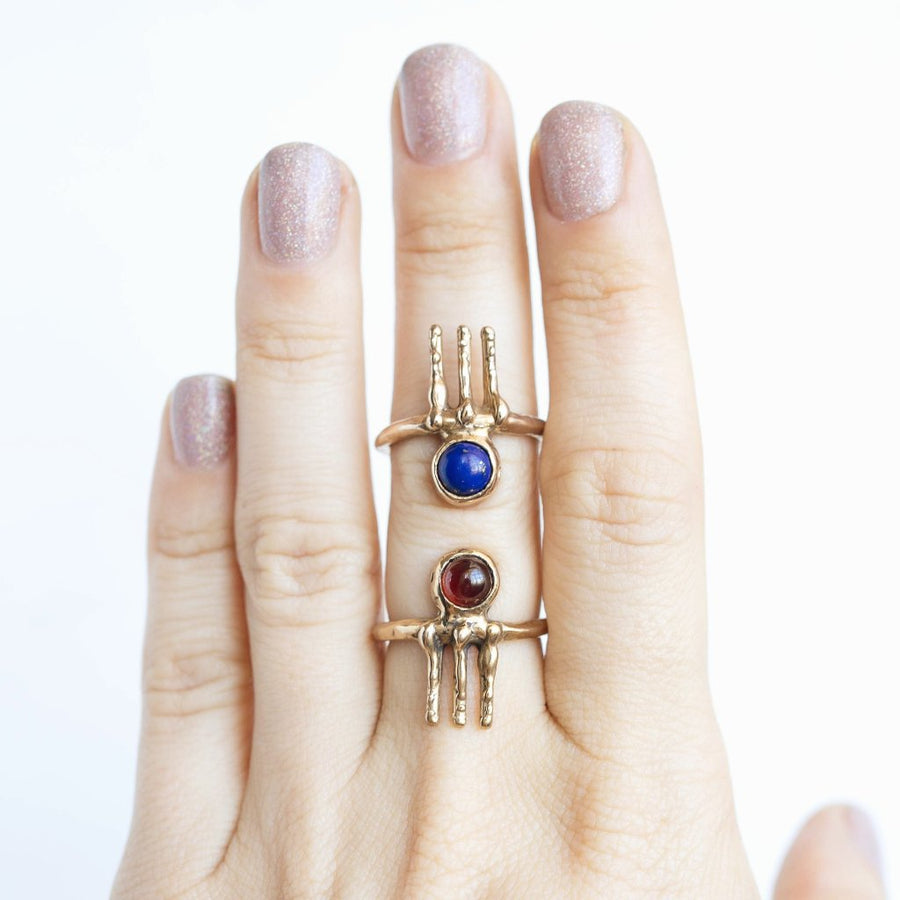 LOKI / Lapis Norse Ring, Lapis Lazuli Ring, Viking Ring, Primitive Ring, Lapis Ring, Symbol Ring, Minimalist Ring, Round Lapis Ring, Unique