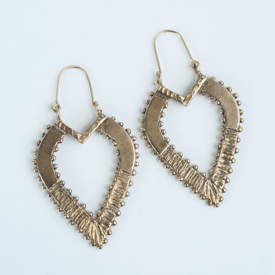 ANYA Antique Teardrop Bronze Earrings