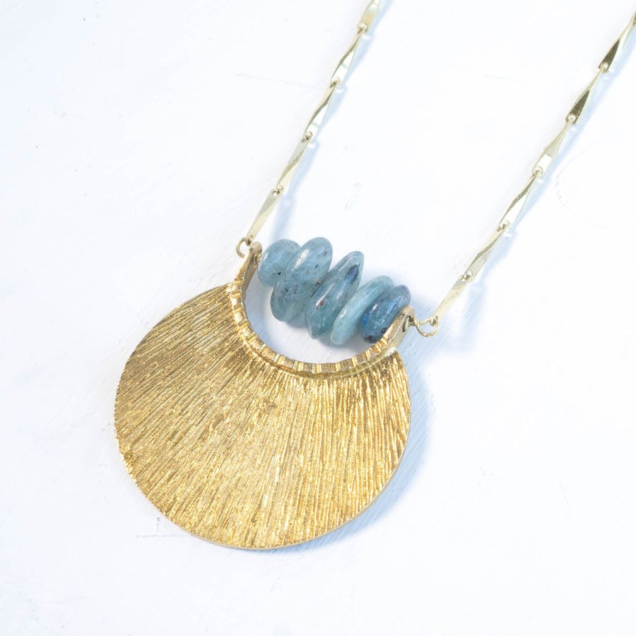 CLEO Kyanite Brass Necklace