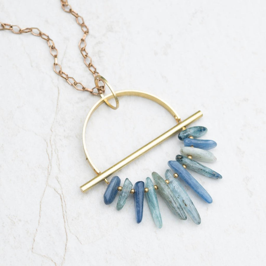 DRIFTER Kyanite Brass Necklace