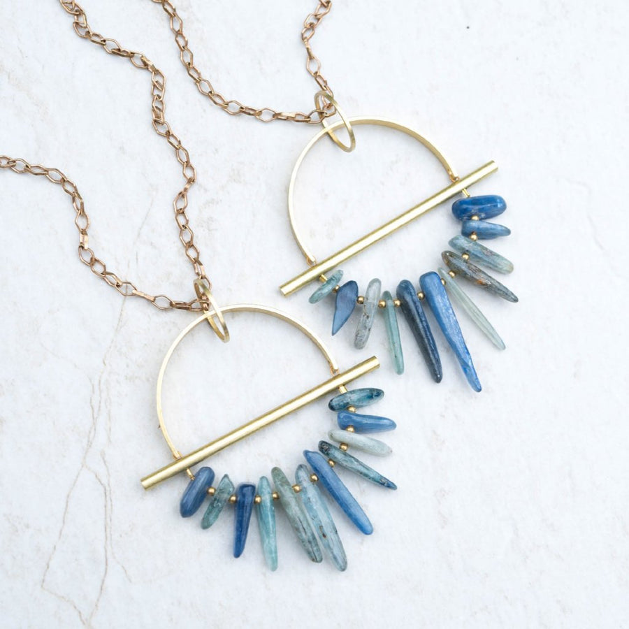 DRIFTER Kyanite Brass Necklaces