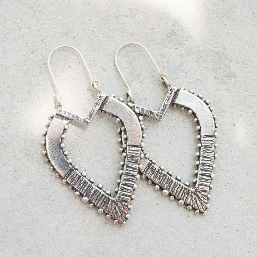 ANYA Antique Silver Teardrop Earrings