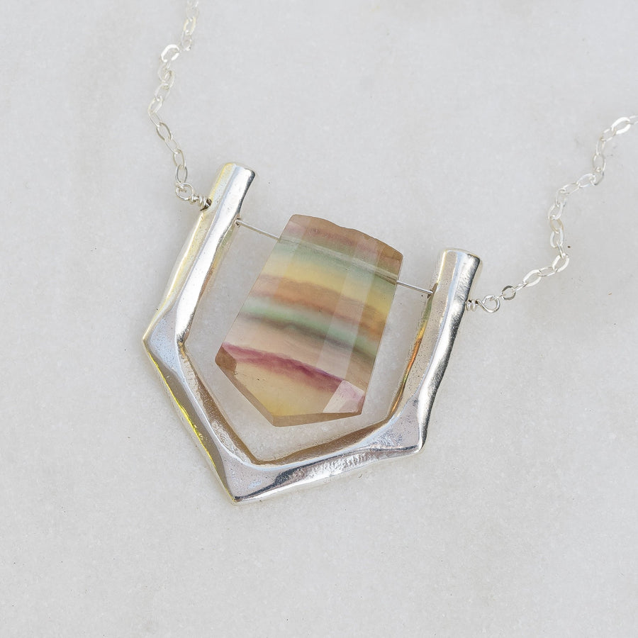 ARIEL / Banded Fluorite Necklace
