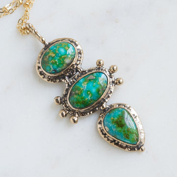 TOTEM Sonoran Gold Turquoise Bronze Necklace