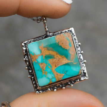 Royston Turquoise Silver Necklace