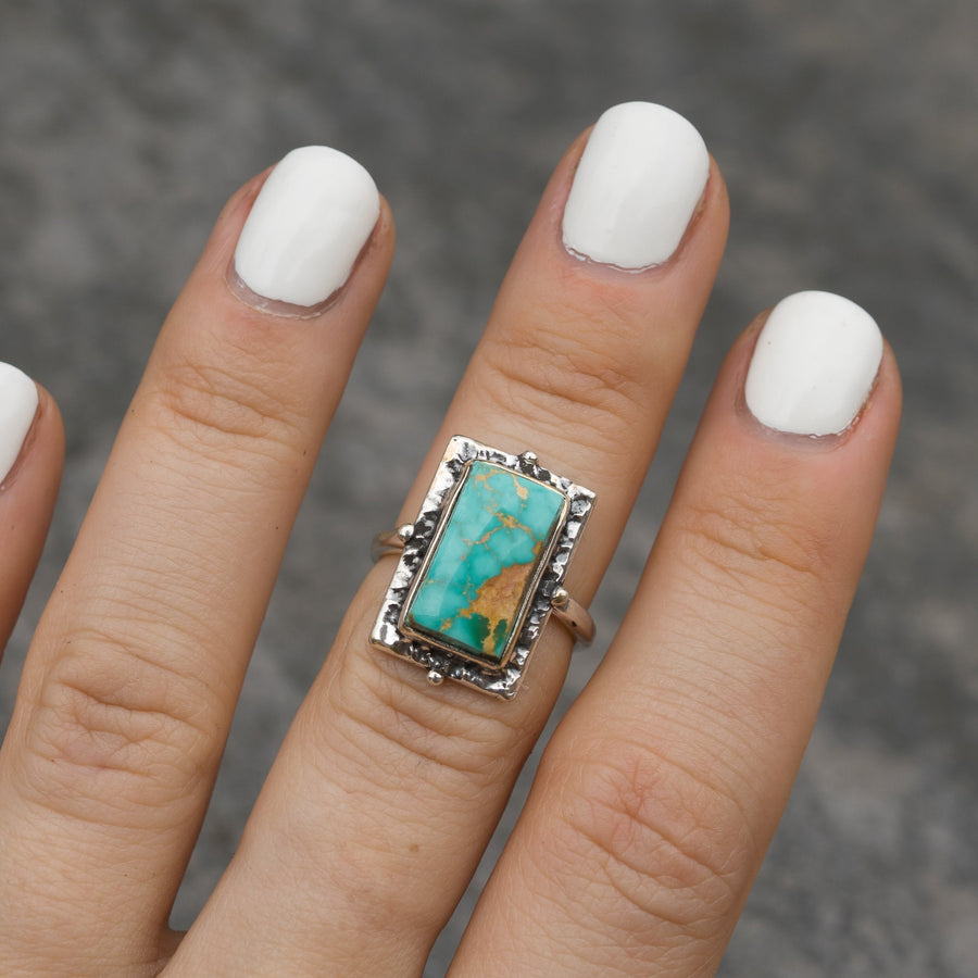 Royston Turquoise Rectangle Ring