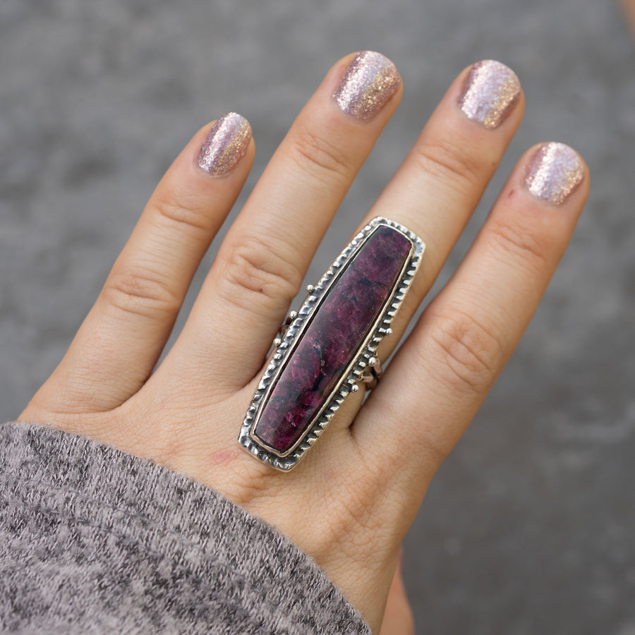 Eudialyte Statement Ring