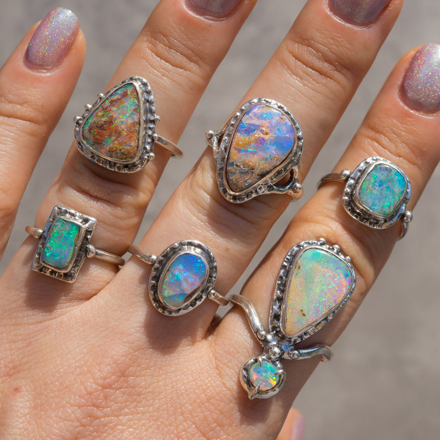 Small Pipe Opal Ring