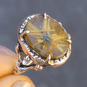 Star Rutile Quartz Ring