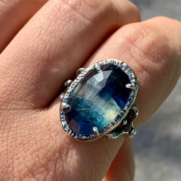 PRE-ORDER FOR EMILY- Kyanite Ring- Sz 9