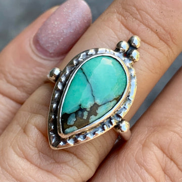 PRE-ORDER FOR NICOLE- Desert Bloom Variscite Ring- Sz 5.5