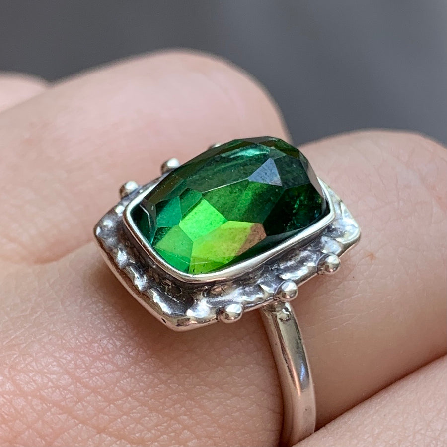 PRE-ORDER FOR JESSICA- Green Tourmaline Ring- Sz 9