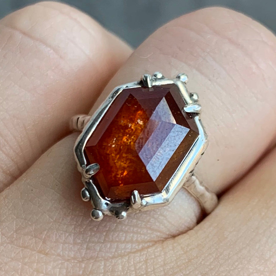 PRE-ORDER FOR KAT- Orange Kyanite Ring- Sz 7