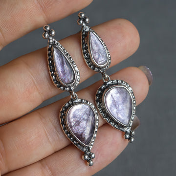 PRE-ORDER FOR EMILY- Lepidolite Earrings