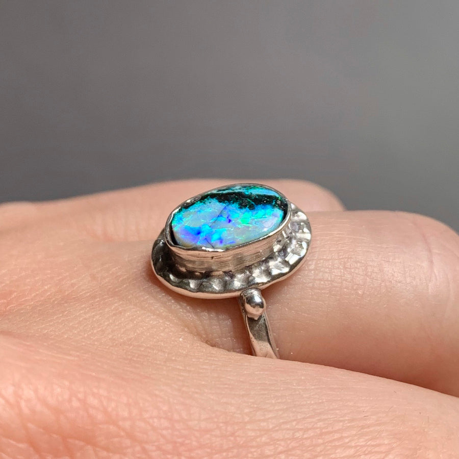 PRE-ORDER FOR Liz- Andamooka Opal Ring-Sz 7