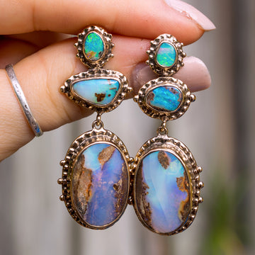 PRE-ORDER FOR ROSITA- Boulder Opal Earrings