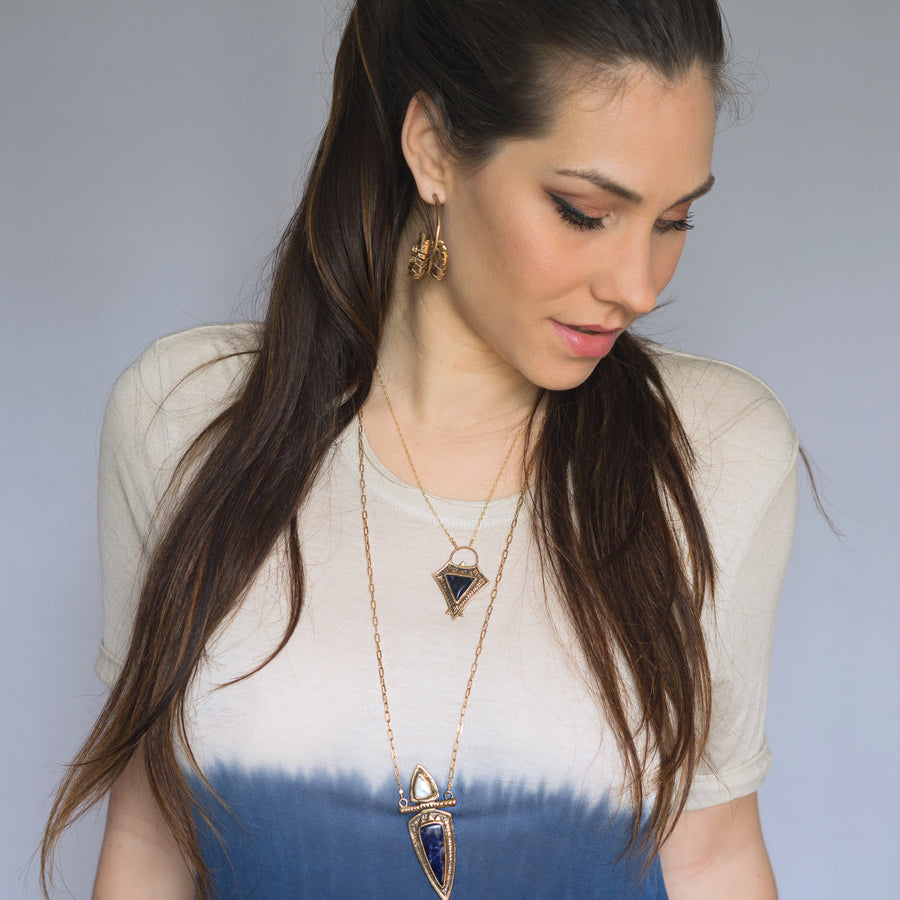KARMA Sodalite & Howlite Necklace