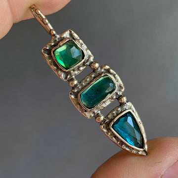PRE-ORDER FOR HEATHER- Blue & Green Tourmaline Pendant