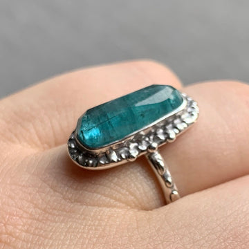 PRE-ORDER FOR LINDA- Indicolite Tourmaline Ring- Sz 7