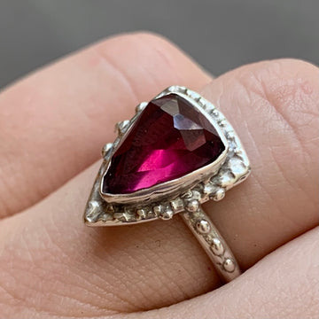 PRE-ORDER FOR LYNN- Rhodolite Garnet Ring- Sz 7.5