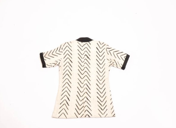 Mud Cloth - Short White Blazer