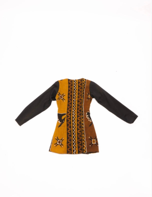 Tiana Mud Cloth Bronze - Blazer Dress (10 TREES)