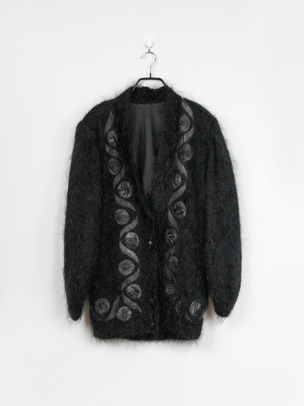Cardigan de Mohair Black Widow - L