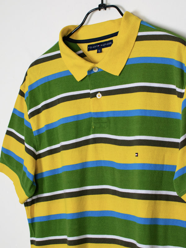 Polo Tommy Hilfiger Verde Amarelo - XL