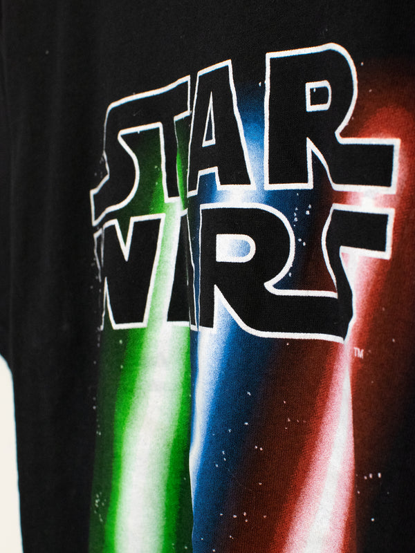 T-Shirt Star Wars Lightsaber - M