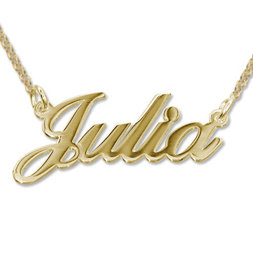 18k Gold-Plated Silver Name Necklace - Smaller Version