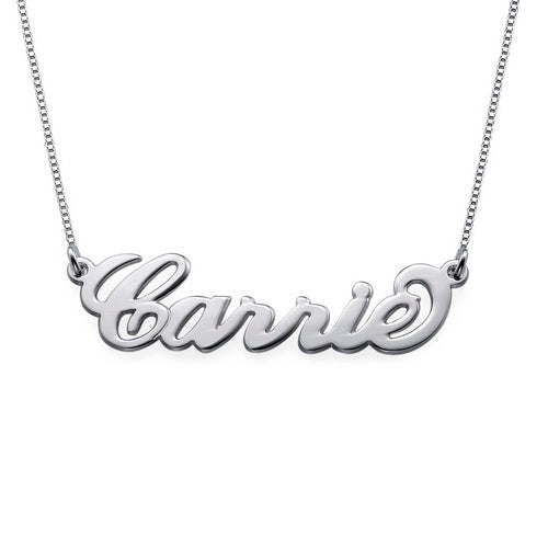 0.925 Silver Name Necklace - Carrie